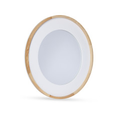 Trina Natural Wood and Resin Mirror 60cm by Oak and Ash