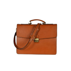 Raffaello laptop bag briefcase in tan