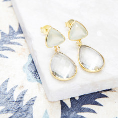 Victoria Drop Earrings In Gold Plate