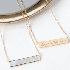 Personalised Gemstone Bar Necklace