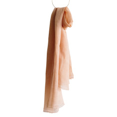 Peaches and cream linen scarf