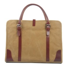 Brown canvas tote bag/shoulder bag
