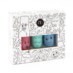 Jungle non-toxic wash-off nail polish for kids (set of 3)