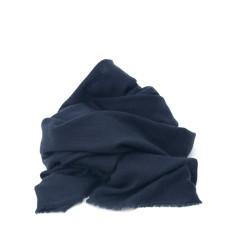 Cashmere scarf in indigo