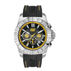 CAT WHISTLER Chrono series watch in stainless steel plus free gift