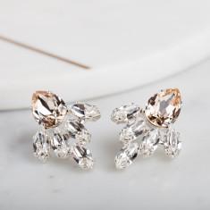Crystal Pear Bridal Earrings