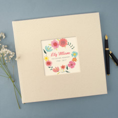Personalised Floral Remembrance Book