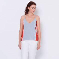 Cotton cashmere summer cami - colour