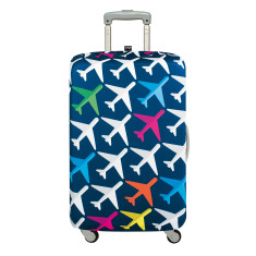 LOQI luggage cover airplane in medium