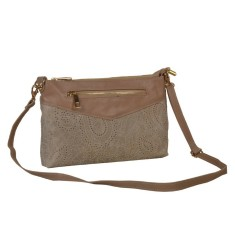 Lea leather cross body bag in beige