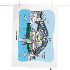 Sydney Harbour tea towel