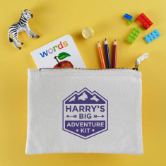 Personalised big adventure travel pouch