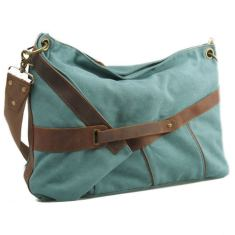 Canvas satchel cross body bag