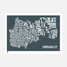 Yarra Valley typographic print