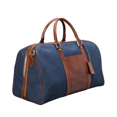 The Giovane Canvas and Leather Luggage Bag (medium)