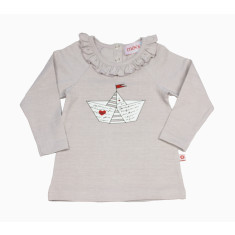 Girls' flying birds top