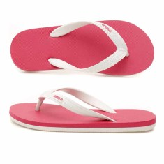 Kids' pink/white organic thongs