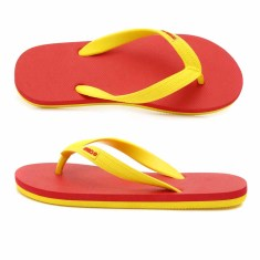 Kids red/yellow organic thongs