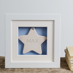 Baby's First Ceramic Star Box Frame