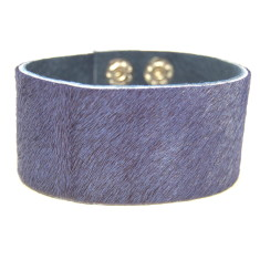 Cuff in indigo cowhide