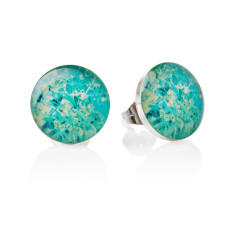 Seagrass stud earrings