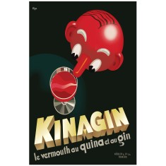 Kinagin art deco poster print
