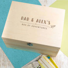 Personalised 'Box Of Adventures' Memory Box