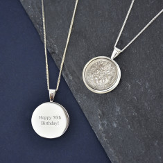 Sixpence Sterling Silver Coin Necklace 1928 To 1967