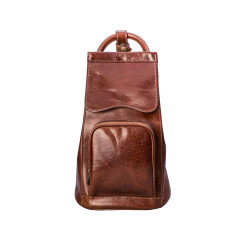 The Carli Italian Leather Backpack