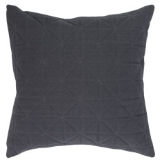 Quilted Charcoal Cushions (various sizes)
