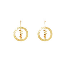 Grace Hoop Earrings in 18 KT Yellow Gold Plate