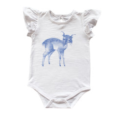 Dakota deer red frill sleeve onesie