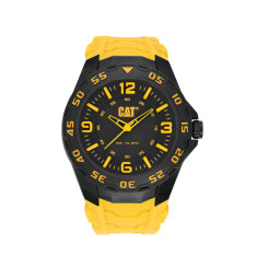 CAT Motion series watch in yellow and black