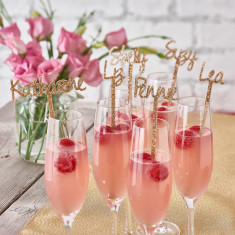 Personalised Sparkling Swizzle Drinks Stirrers - Set of 5