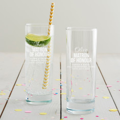Personalised Matron Of Honour Hi Ball Glass