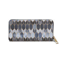 Stained Glass Blue Vegan Leather Wallet Purse
