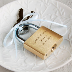 Personalised square padlock keepsake