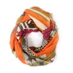 Retro orange shades softest cotton scarf