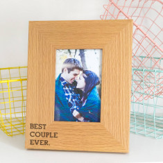 Best couple ever oak photo frame