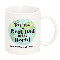 Personalised Best Dad In The World Mug