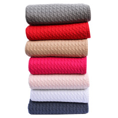 Cable knit luxe cotton baby blanket (selection of colours)