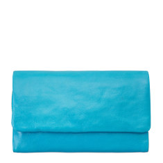 Audrey leather wallet in pool