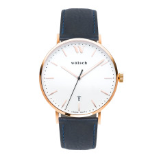 Versa 40 Watch In Rose Gold with Navy Band