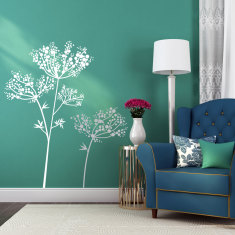 Anise flowers wall decal (various colours)