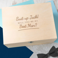 Personalised Will You Be My Best Man? Keepsake Box