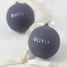 Personalised Metallic Ceramic Bauble