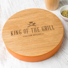 Mens 'King Of The Grill' Personalised Serving Board