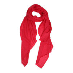 Moye cashmere stole in coral