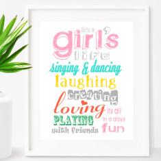 Girls life print