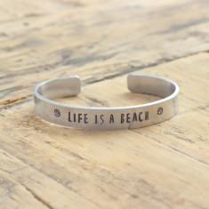 Life is a beach bracelet (various metal colours)